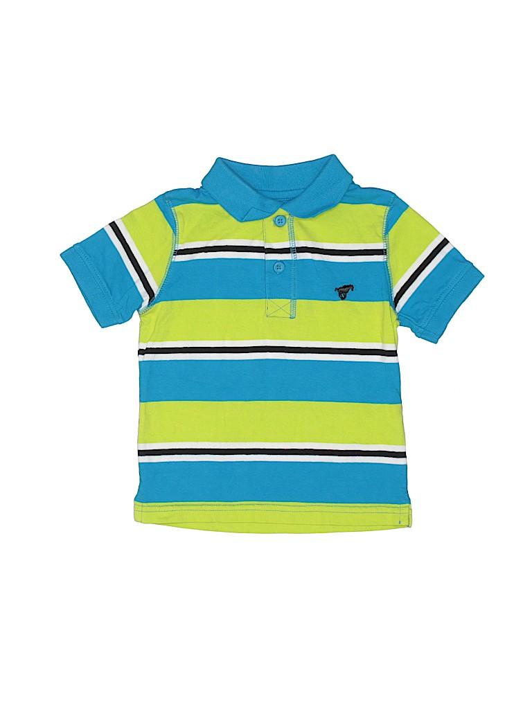 acb2e99d Wrangler Jeans Co 100% Cotton Stripes Blue Short Sleeve Polo Size 2T ...