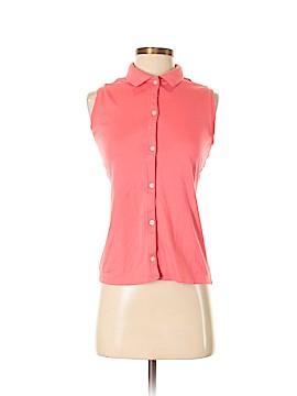 Lands' End Sleeveless Button-Down Shirt Size S