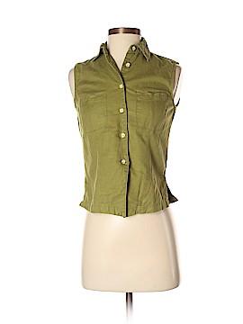 Casual Corner Annex Sleeveless Button-Down Shirt Size P (Petite)