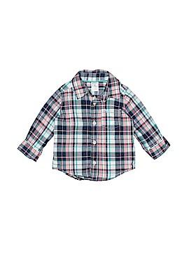 Carter's 3/4 Sleeve Button-Down Shirt Size 6 mo