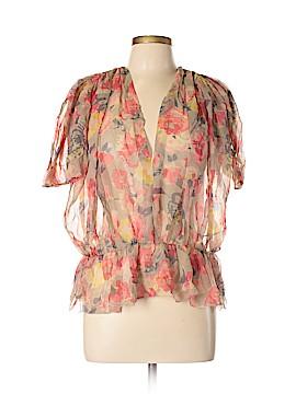 Jill Stuart Short Sleeve Blouse Size M
