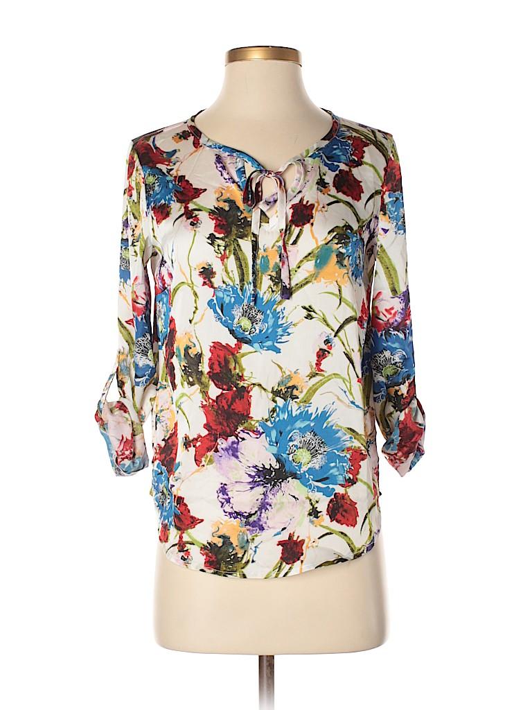 Brigitte Bailey Women Long Sleeve Blouse Size S