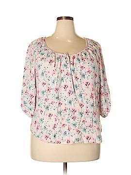 Cynthia Rowley TJX Short Sleeve Blouse Size 2X (Plus)