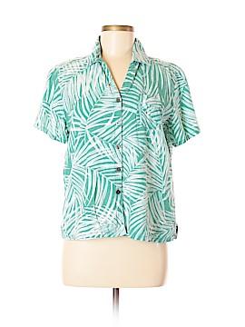 Erika Short Sleeve Button-Down Shirt Size M (Petite)
