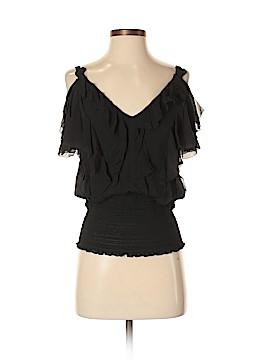 Catherine Malandrino Short Sleeve Silk Top Size 2