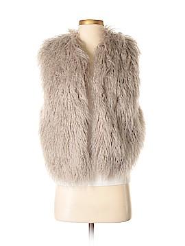 Burning Torch Faux Fur Vest Size XS