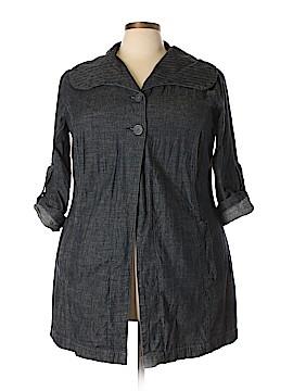 French Cuff Denim Jacket Size 2X (Plus)