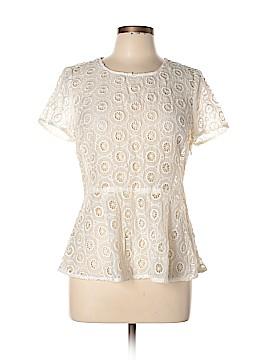 Aryn K. Short Sleeve Blouse Size L