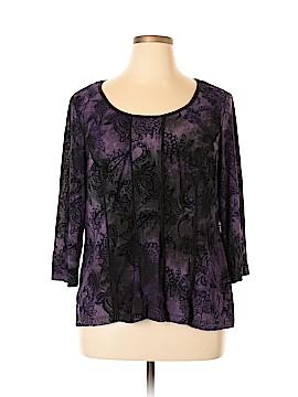DressBarn 3/4 Sleeve Top Size 2X (Plus)