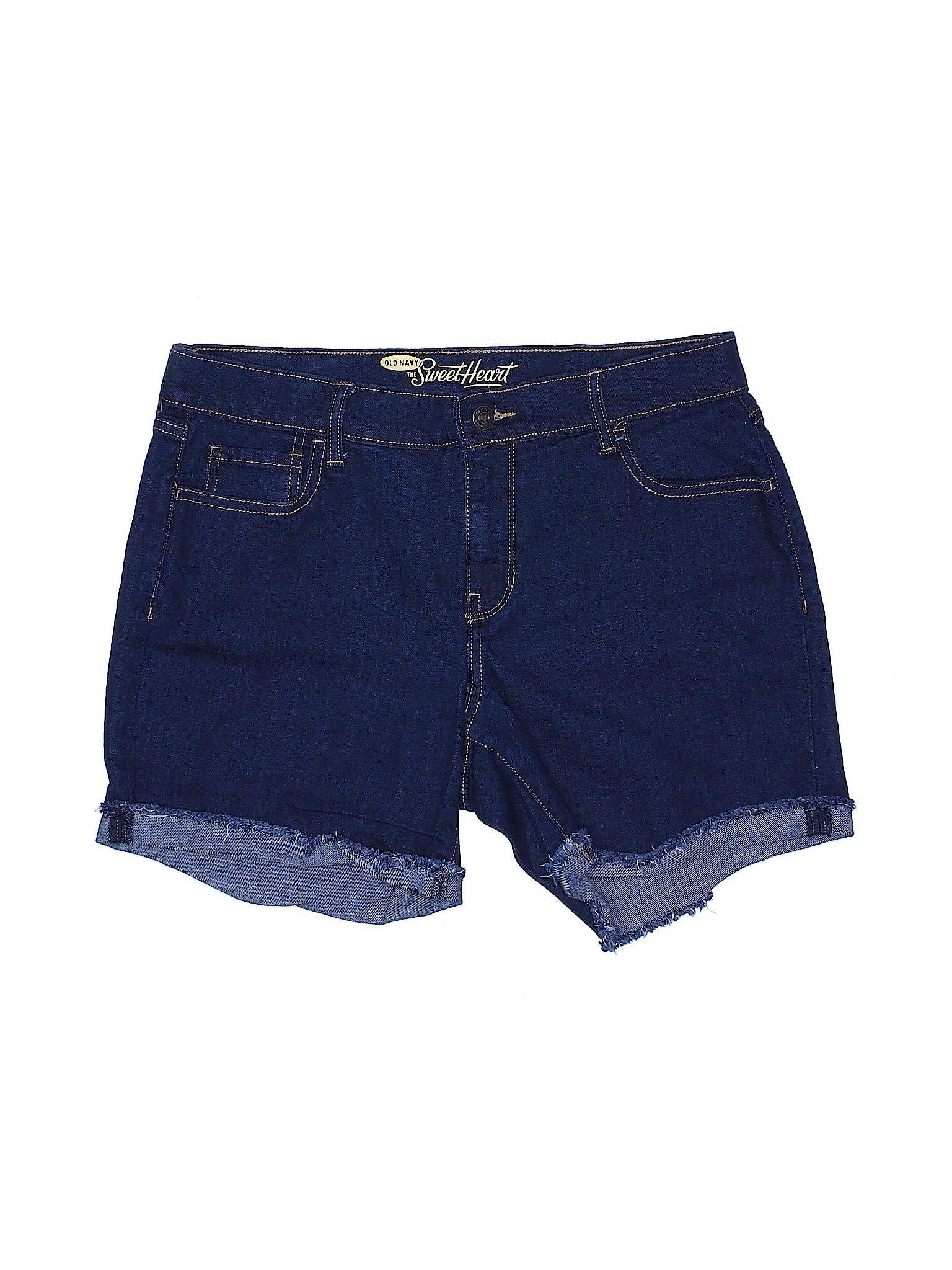 Navy Leisure winter Old Denim Shorts qB6wERxBF