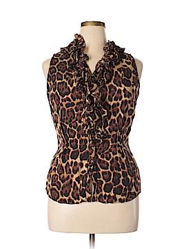 Newport News Sleeveless Button-Down Shirt Size 16