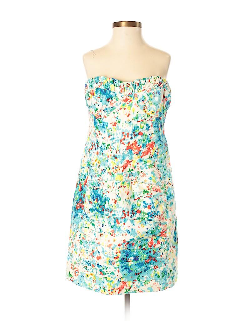 e403bd85c433 Nanette Lepore Print Dark Blue Casual Dress Size 8 - 88% off | thredUP