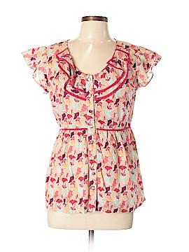 DownEast Basics Short Sleeve Button-Down Shirt Size L