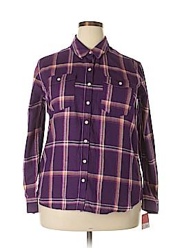 Mossaic Long Sleeve Button-Down Shirt Size XXL