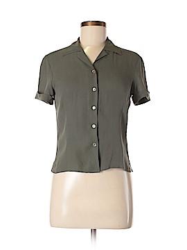 Anne Klein Short Sleeve Silk Top Size 8