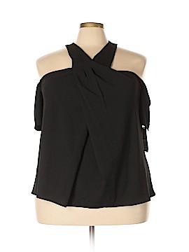 RACHEL Rachel Roy Short Sleeve Blouse Size 18W (Plus)