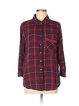 Hydraulic Long Sleeve Button-Down Shirt Size M