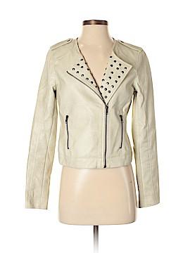 Rhyme & Echo Faux Leather Jacket Size S