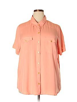 Millenium Short Sleeve Button-Down Shirt Size 2X (Plus)