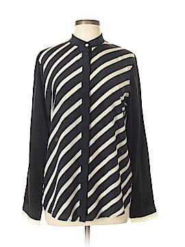 C. Wonder Long Sleeve Silk Top Size L