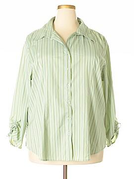 DCC 3/4 Sleeve Button-Down Shirt Size 2X (Plus)