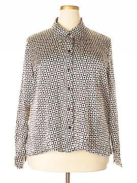 Claudia Richard Long Sleeve Blouse Size 3X (Plus)