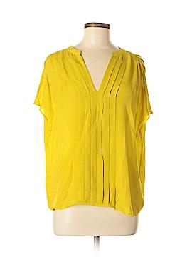 La Fee Verte Short Sleeve Silk Top Size M