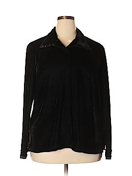 Harve Benard by Benard Holtzman Long Sleeve Button-Down Shirt Size 1X (Plus)
