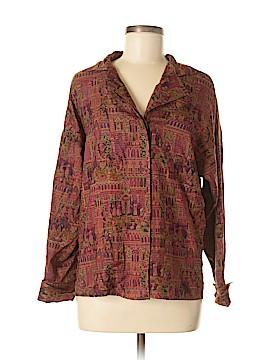 Ellen Tracy Long Sleeve Button-Down Shirt Size 8