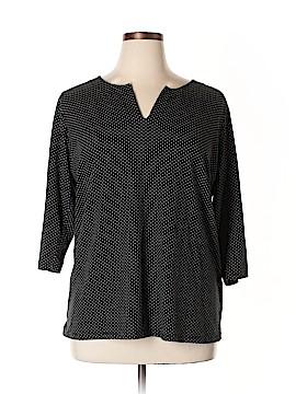 Jones New York 3/4 Sleeve Top Size 2X (Plus)