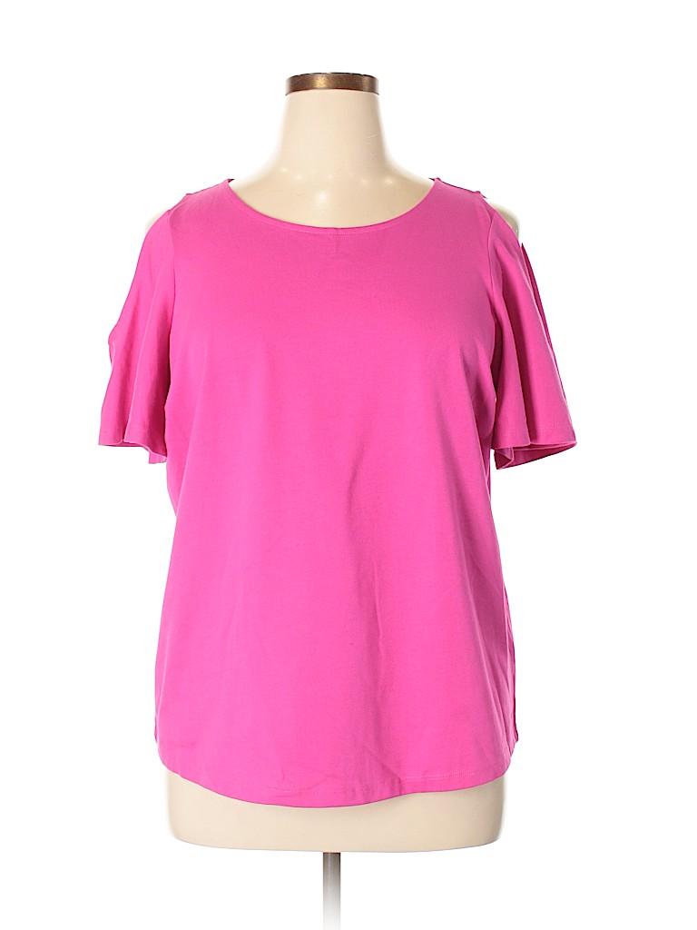 Lauren by Ralph Lauren Women Short Sleeve Top Size 1X (Plus)