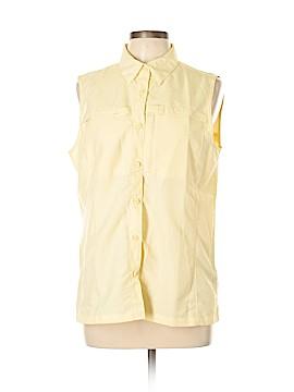 L.L.Bean Sleeveless Button-Down Shirt Size L