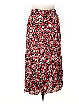 Tucker Silk Skirt Size M