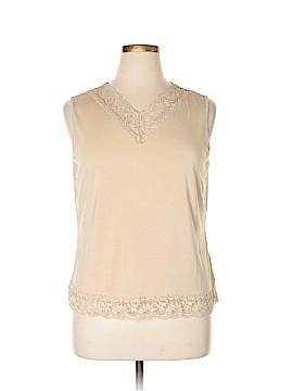 Kate Hill Sleeveless T-Shirt Size 1X (Plus)
