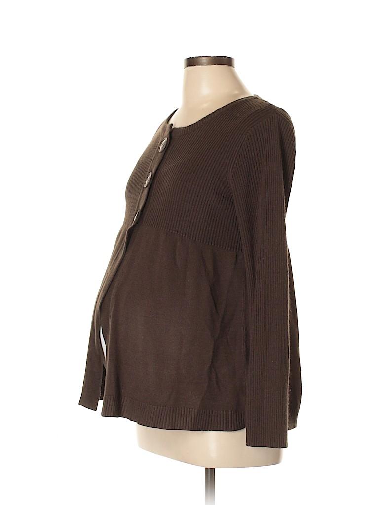 Oh Baby By Motherhood Women Cardigan Size L (Maternity)