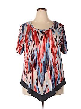 Karen Kane Short Sleeve T-Shirt Size 2X (Plus)
