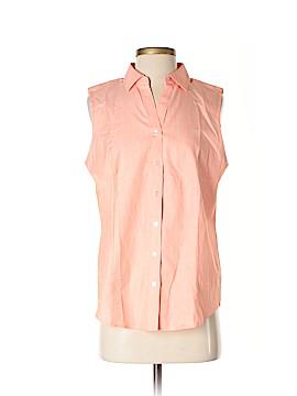 Talbots Sleeveless Button-Down Shirt Size 10