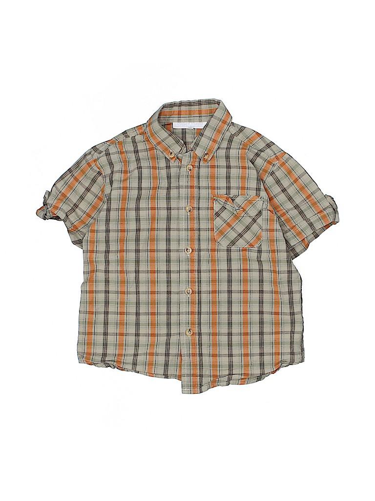 Tartine et Chocolat Boys Short Sleeve Button-Down Shirt Size 6