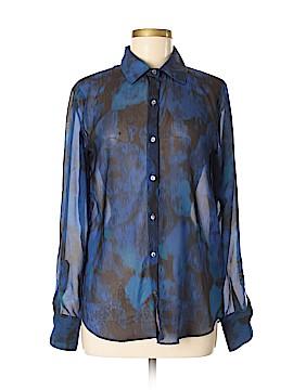 Velvet Long Sleeve Blouse Size M