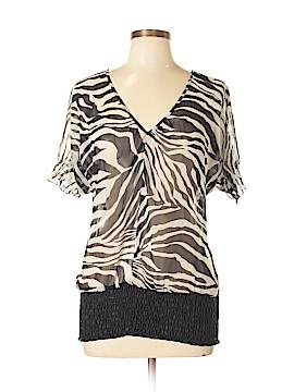 6 Degrees Short Sleeve Blouse Size L