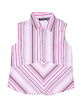 Jazzie Sleeveless Button-Down Shirt Size 2X (Plus)