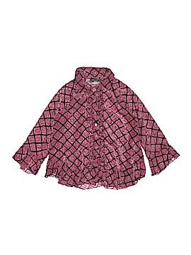 Jean Bourget Long Sleeve Button-Down Shirt Size 4