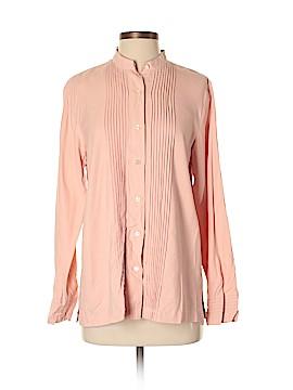 Orvis Long Sleeve Silk Top Size M