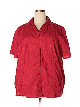 Liz & Me Sleeveless Button-Down Shirt Size 2X (Plus)