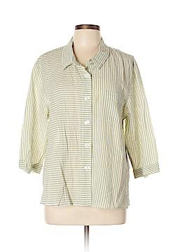 Habitat 3/4 Sleeve Button-Down Shirt Size XL