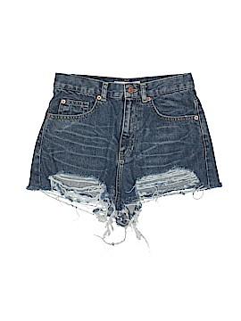 Moto Denim Shorts 28 Waist