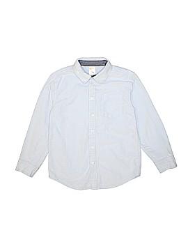 Gymboree Long Sleeve Button-Down Shirt Size Medium (7-8)
