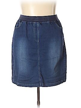 Woman Within Denim Skirt Size 18W (Plus)