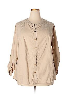 Avenue Studio Long Sleeve Button-Down Shirt Size 22 - 24 (Plus)