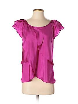Julie Haus Short Sleeve Silk Top Size XS
